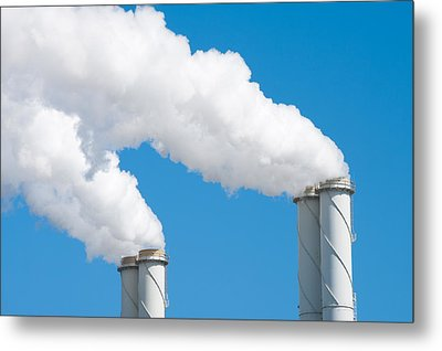 Smoking Chimneys Metal Print by Hans Engbers