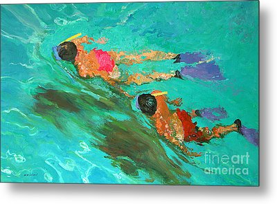 Snorkelers  Metal Print by William Ireland
