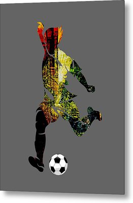 Soccer Collection Metal Print