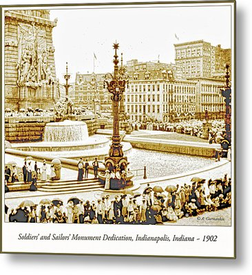 Soldiers' And Sailors' Monument Dedication, Indianapolis, Indian Metal Print by A Gurmankin