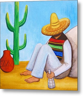Sombrero Metal Print by Lucy Deane