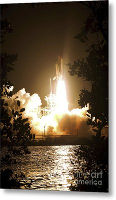 Space Shuttle Endeavour Liftoff Metal Print