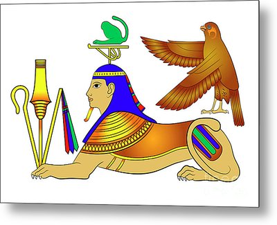 Sphinx - Mythical Creatures Of Ancient Egypt Metal Print by Michal Boubin