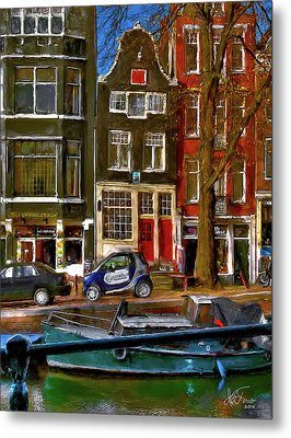 Metal Print featuring the photograph Spiegelgracht 6. Amsterdam by Juan Carlos Ferro Duque