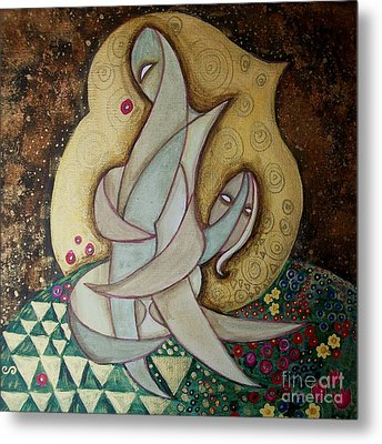Spirit Lovers Metal Print by Carola Joyce