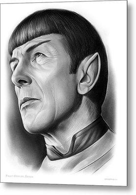 Spock Metal Print by Greg Joens
