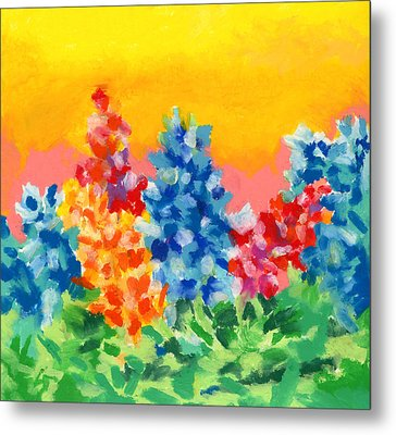 Spring Wildflowers Metal Print by Stephen Anderson