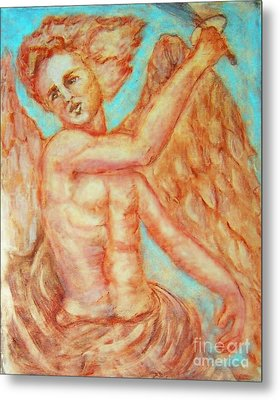 St. Michael The Archangel Metal Print by Suzanne Reynolds