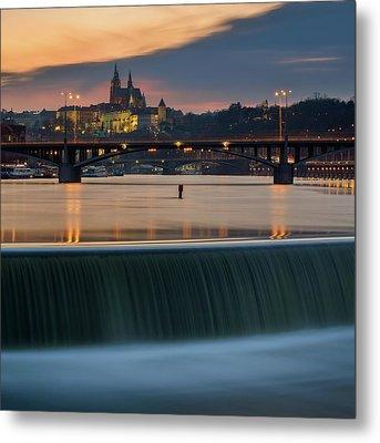 St. Vitus Cathedral, Prague, Czech Republic Metal Print
