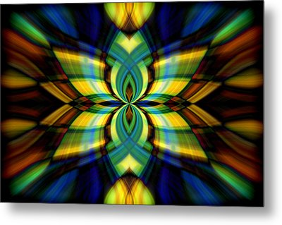 Stained Glass Metal Print by Cherie Duran