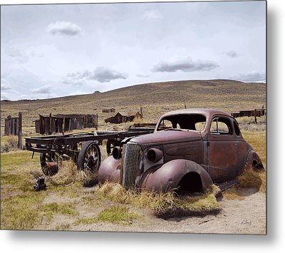 Stalled In Bodie Metal Print by Gordon Beck