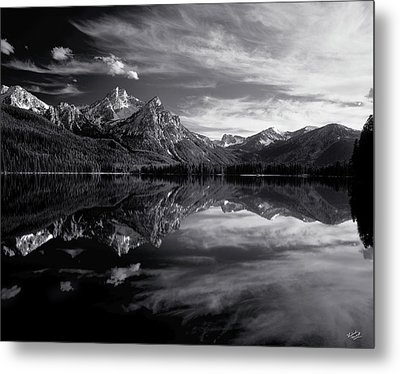 Stanley Lake Metal Print by Leland D Howard