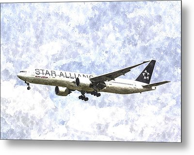 Star Alliance Boeing 777 Art Metal Print by David Pyatt