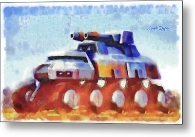 Star Wars Rebel Army Armor Vehicle - Watercolor Metal Print