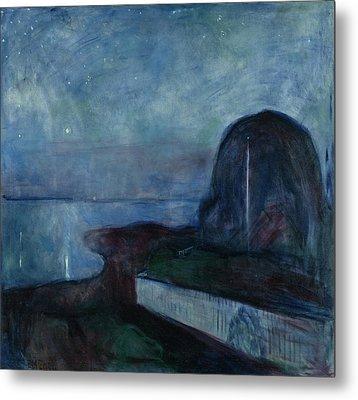 Starry Night Metal Print by Edvard Munch