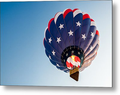 Stars And Stripes Above Metal Print by Todd Klassy