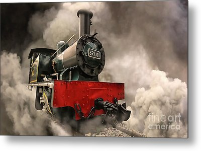 Metal Print featuring the photograph Steam Engine by Charuhas Images