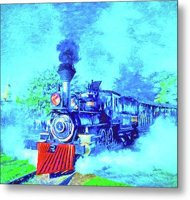 Edison Locomotive Metal Print by Dennis Cox