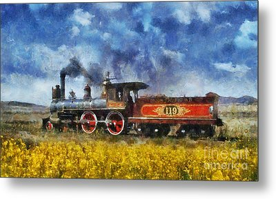 Metal Print featuring the photograph Steam Locomotive by Ian Mitchell