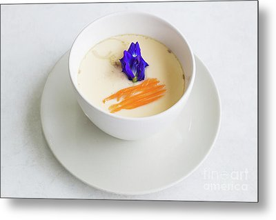 Metal Print featuring the photograph Steamed Egg by Atiketta Sangasaeng