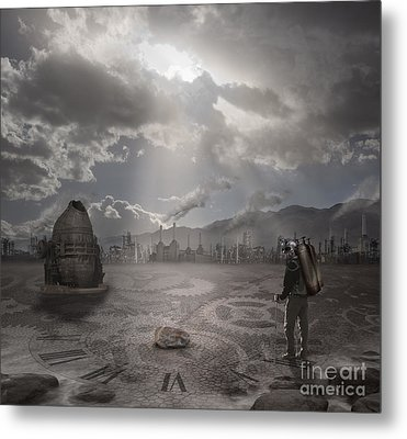 Steampunk Traveler Metal Print by Keith Kapple