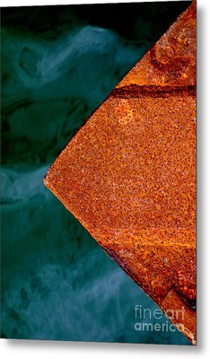Steel Wharf Metal Print by Robert Riordan