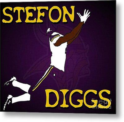 Stefon Diggs Metal Print
