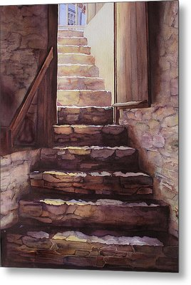 Stepping Out Metal Print by Judy Mercer