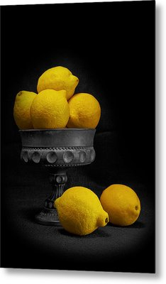 Still Life With Lemons Metal Print by Tom Mc Nemar
