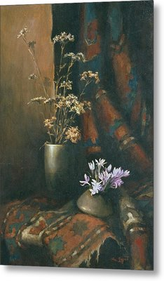 Metal Print featuring the painting Still-life With Snow Drops by Tigran Ghulyan