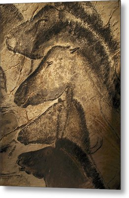 Stone-age Cave Paintings, Chauvet, France Metal Print by Javier Truebamsf