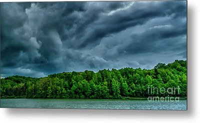 Storm Clouds Over Lake Metal Print by Thomas R Fletcher