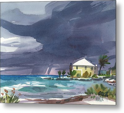 Storm Over Key West Metal Print by Donald Maier