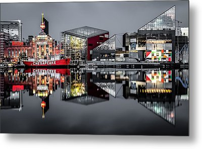 Stormy Night In Baltimore Metal Print