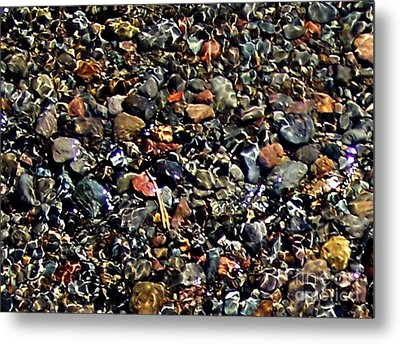 Metal Print featuring the photograph Stream Over Pebbles by Erica Hanel