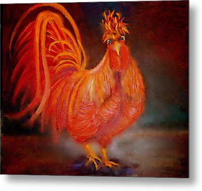 Strutting Metal Print