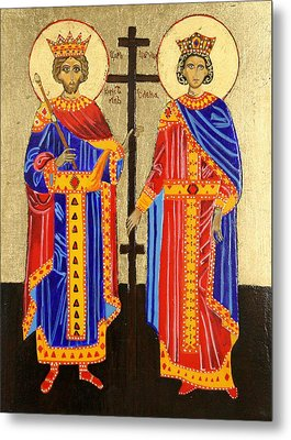 Sts. Constantine And Helen Metal Print by Amy Reisland-Speer