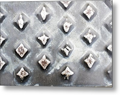 Studded Metal Metal Print by Tom Gowanlock