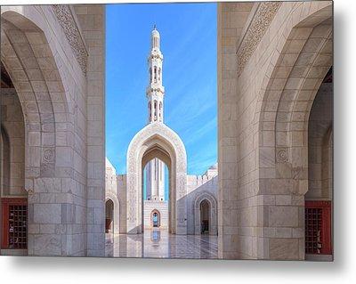 Sultan Qaboos Grand Mosque - Oman Metal Print by Joana Kruse