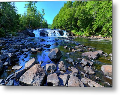 Summer At Buttermilk Falls Metal Print by David Patterson
