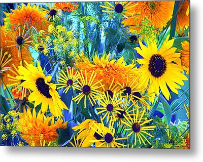 Metal Print featuring the photograph Summer Bouquet by Byron Varvarigos