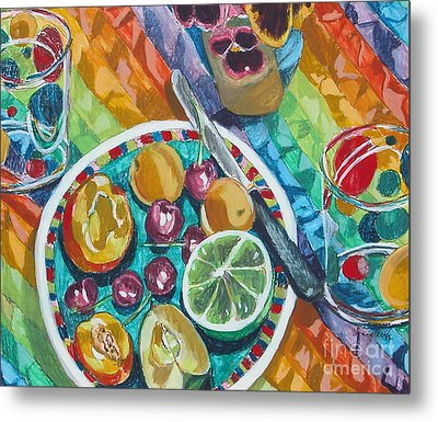 Summer Breakfast Metal Print by Jan Bennicoff