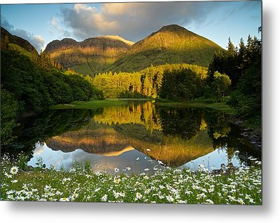Summer Reflections In Glencoe Metal Print