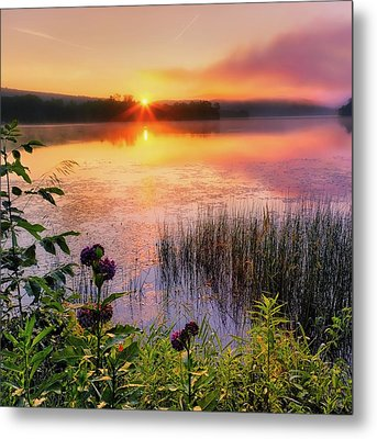 Summer Sunrise Square Metal Print by Bill Wakeley