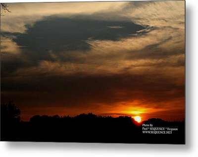 Metal Print featuring the photograph Sun Set by Paul SEQUENCE Ferguson             sequence dot net