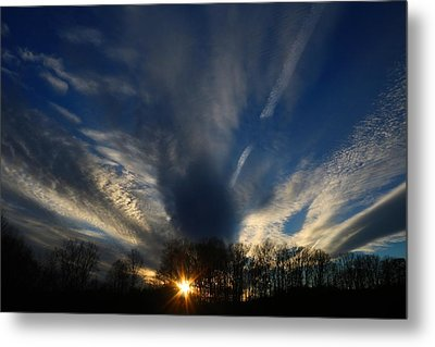 Sundown Skies Metal Print by Kathryn Meyer