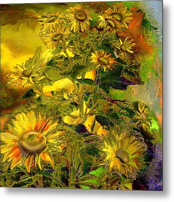 Sunflowers Metal Print by Anne Weirich