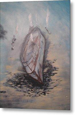 Sunken Ship Metal Print