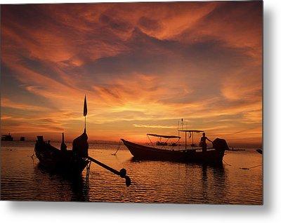 Sunrise On Koh Tao Island In Thailand Metal Print