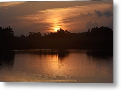 Sunrise On The Bayou Metal Print
